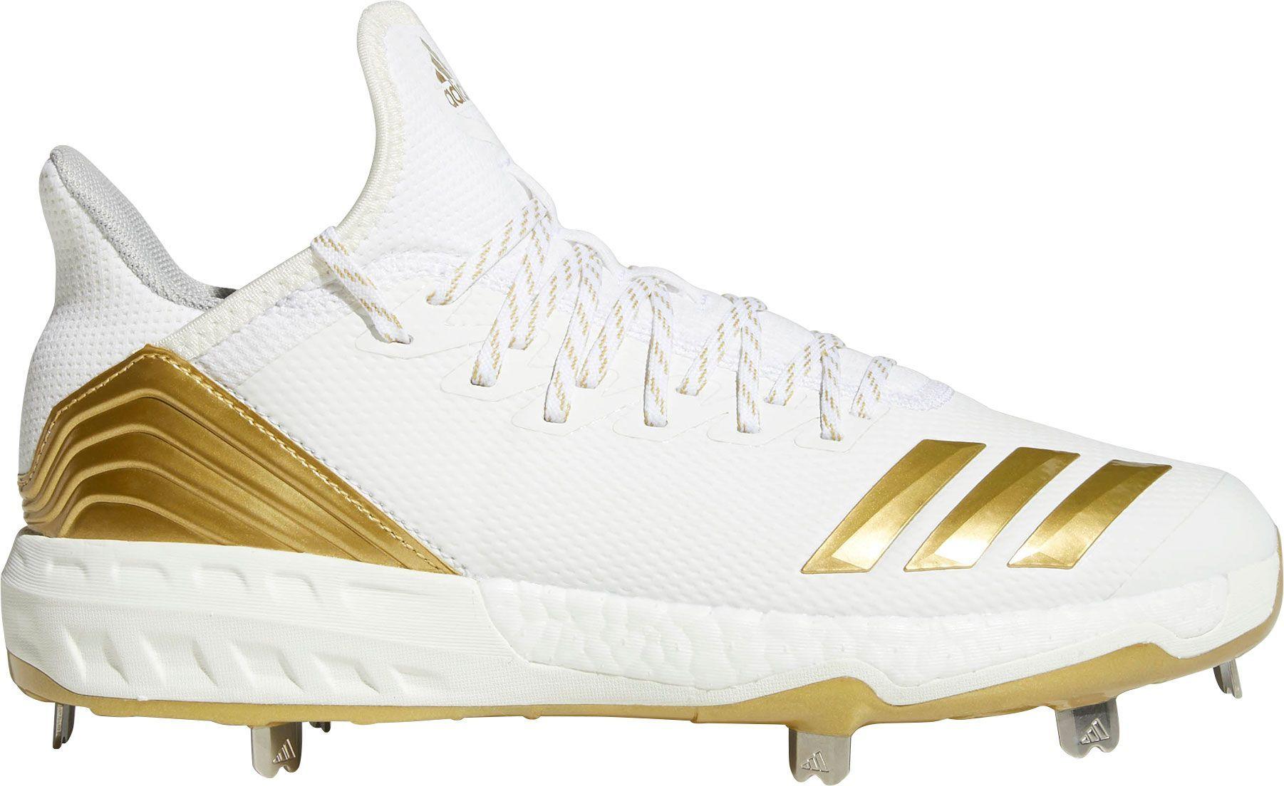los angeles 01934 adf08 adidas Mens Icon 4 Metal Baseball Cleats, Size 13.0, White