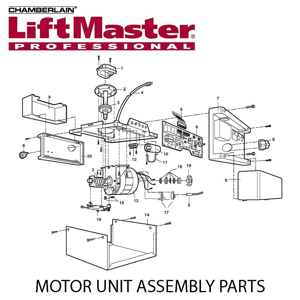 hight resolution of liftmaster 41c4842 universal replacement motor for 1280 1280r rp 119 95 sp 93 75