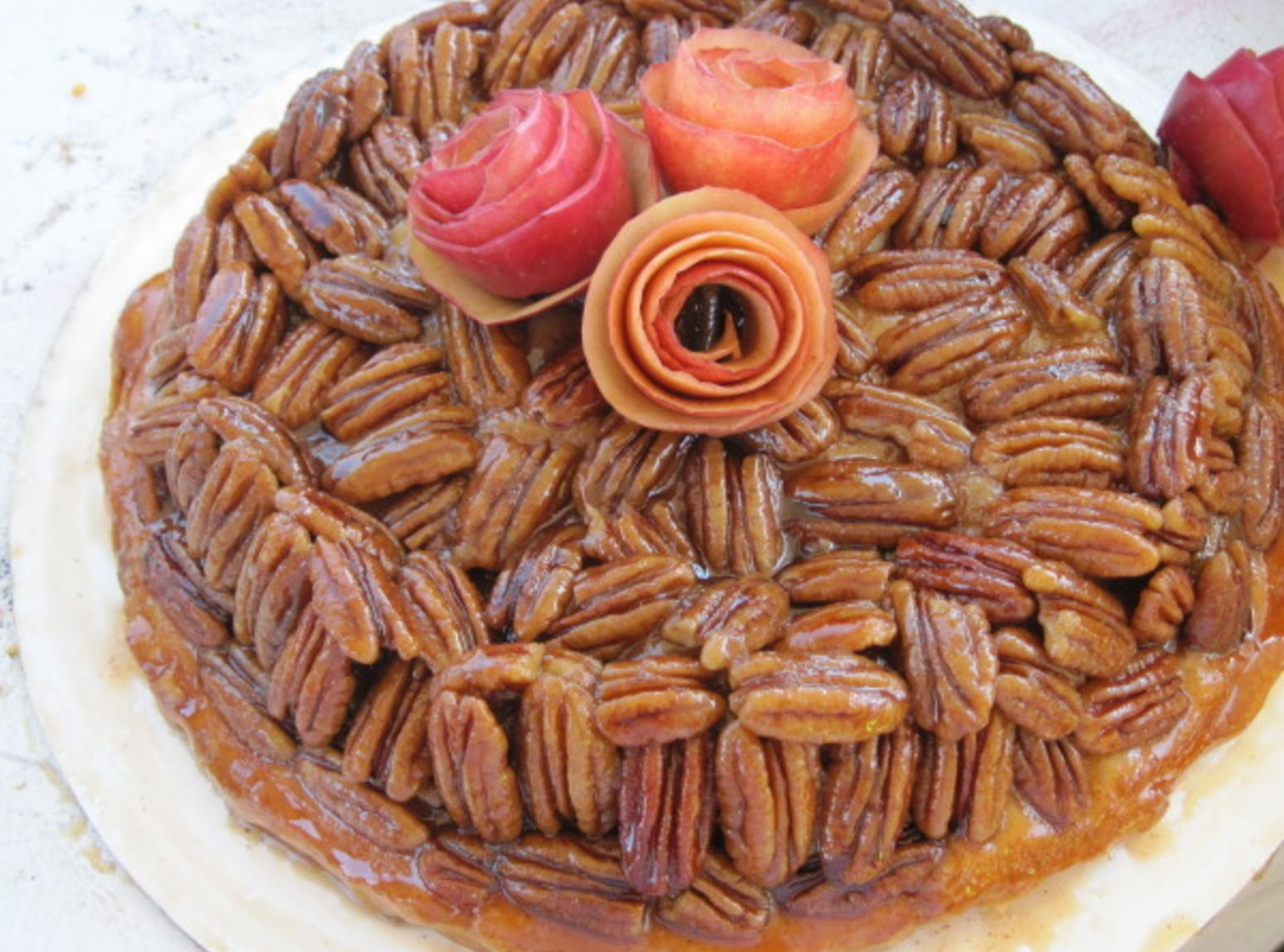 upsidedown apple pecan pie