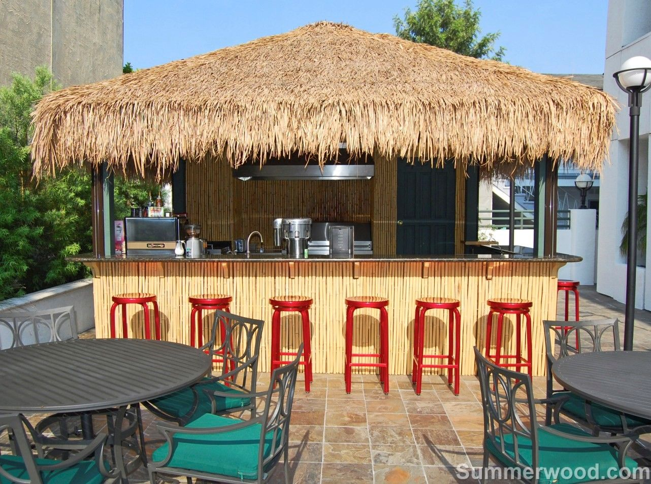 perfect for a big family or a group friends tiki bar themed