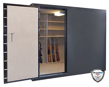 Custom walk in gun safe with door open safe 39 s for Walk in safes for homes