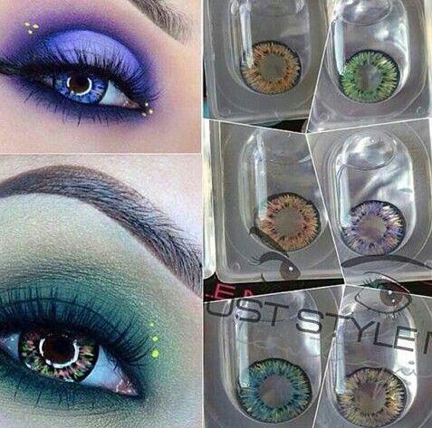 Las lentillas del color perfecto que van ideal para tu maquillaje.