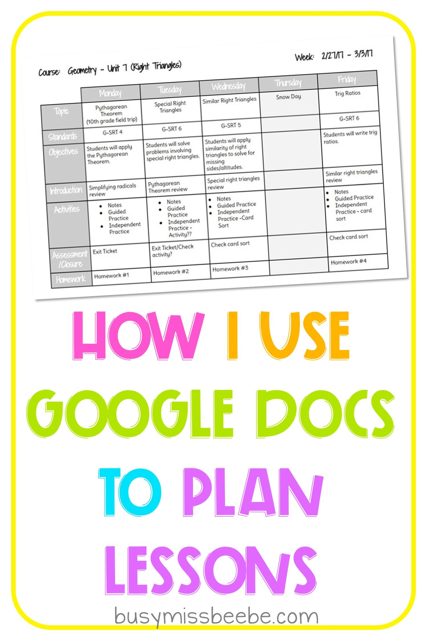 Grab Your Free Copy Of A Simple Weekly Google Docs Lesson Plans Templat Lesson Plan Template Free Kindergarten Lesson Plans Template Middle School Lesson Plans Weekly planning template for teachers