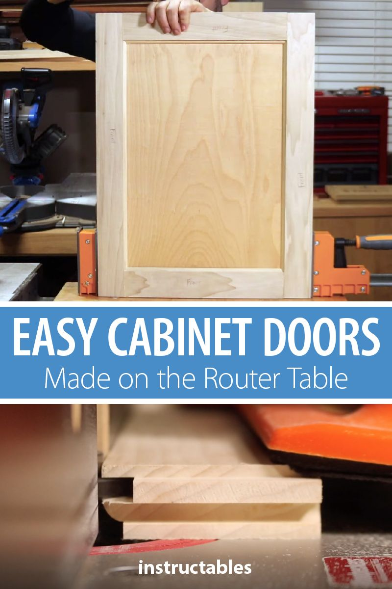 Easy Cabinet Doors Made On The Router Table Diy Cabinet Doors Cabinet Doors Handyman Projects