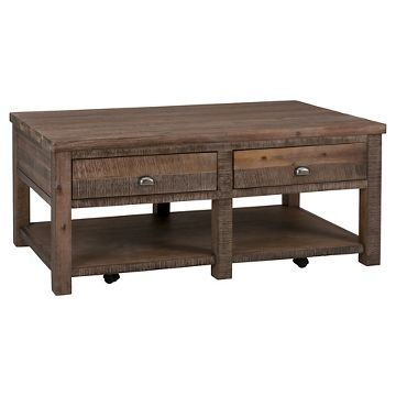 Cocktail Table With 2 Drawers And Shelf Brown Jofran Inc Living Room Coffee Table Table Coffee Table Jofran living room cocktail table