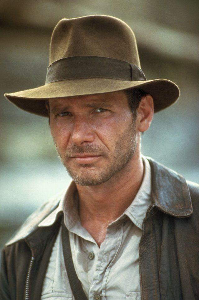 Harrison Ford en Indiana Jones y el Templo Maldito, película de 1984