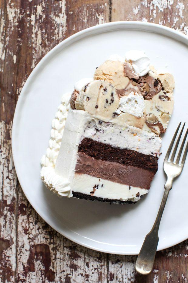Meringue Topped Layered Ice Cream Birthday Cake Simple Bites Recipe Ice Cream Cake Ice Cream Birthday Cake Cream Recipes