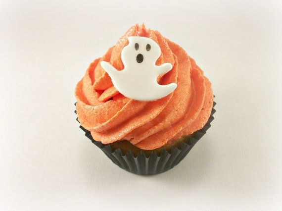 Halloween Ghost Fondant Cupcake Cake Edible Toppers by LenasCakes