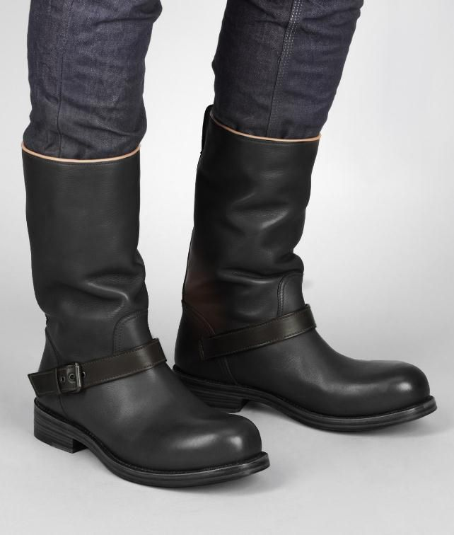 Nero Espresso Calf Boot - Men's Bottega Veneta® Boots And Ankle Boots - Shop at the Official Online Store