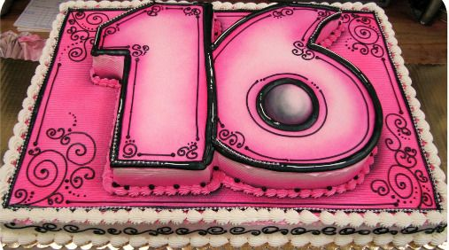 Astonishing Sweet 16 Birthday Cakes Sweet Sixteen Cakes Sweet 16 Cakes Personalised Birthday Cards Veneteletsinfo