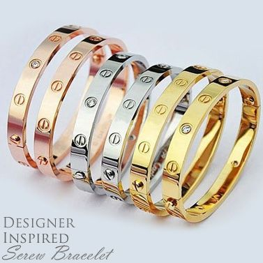 Cartier Inspired Love Bracelet Get The High Flyer Look Without Expensive Price Tag With A Designer By