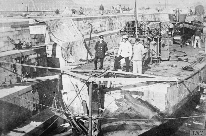 Torpedo Boat Hit By Bomb At Zeebrugge Boat Warship Naval