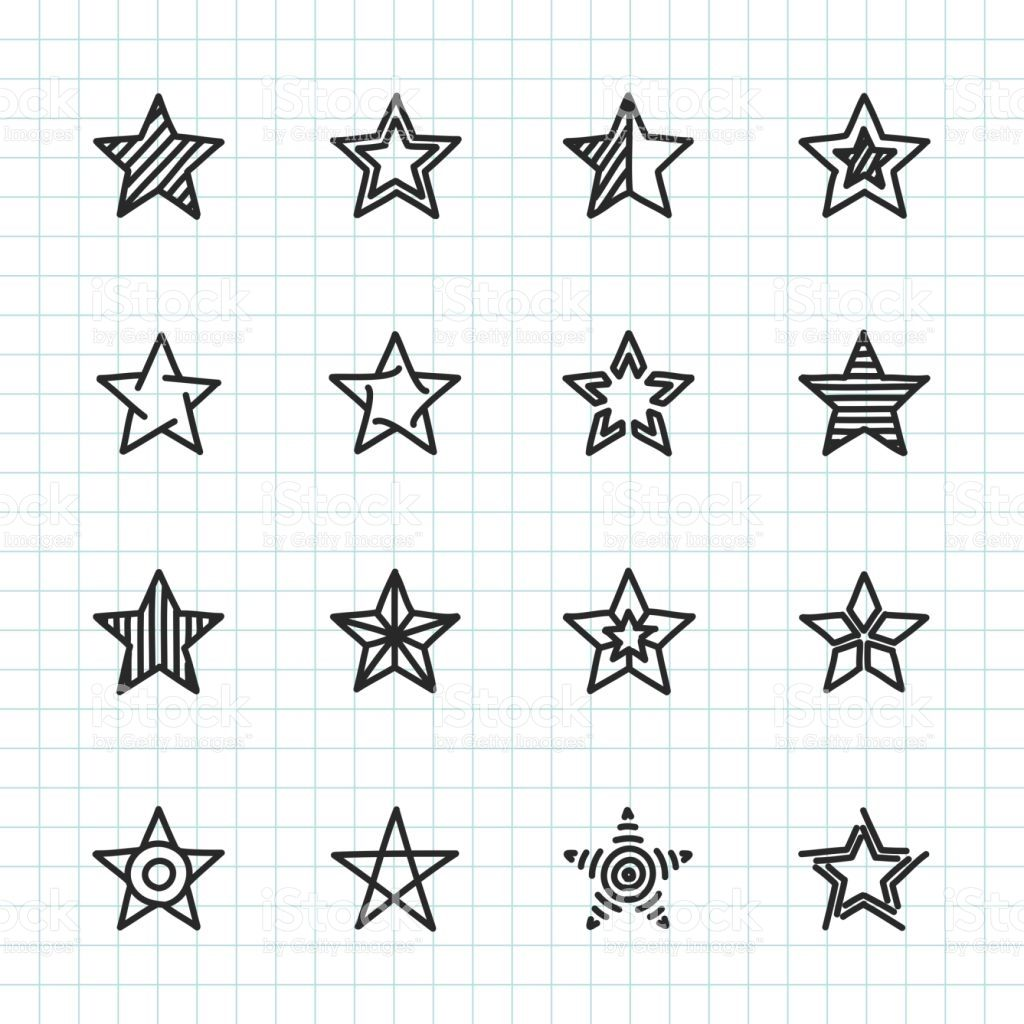 Star Icon Hand Drawn Series Vector EPS File. in 2020 How