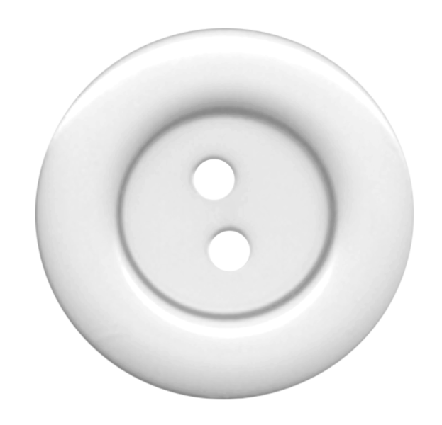 White Cloth Button With 2 Hole PNG Image Buttons