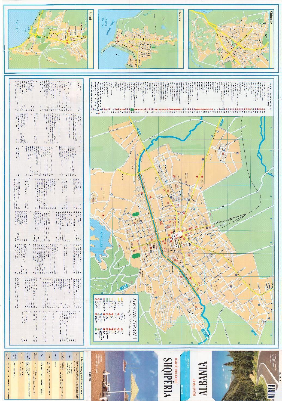 City map tirana Big City maps City and Albania