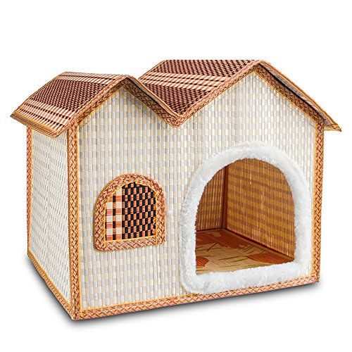7life Natural Bamboo Dog House Crates For Dogs Cats And Other