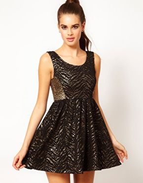 8600211ea2 Hunt No More  Like a Soldier  Sequin and Lace Skater Dress