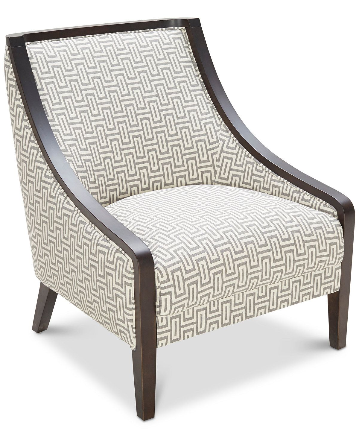 Landor Printed Accent Chair Chairs Recliners Furniture