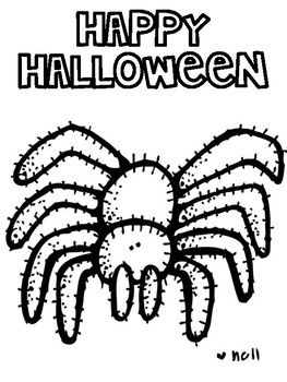 Halloween Coloring Pages Sheets (melon Head Kids) ONLY $1.00