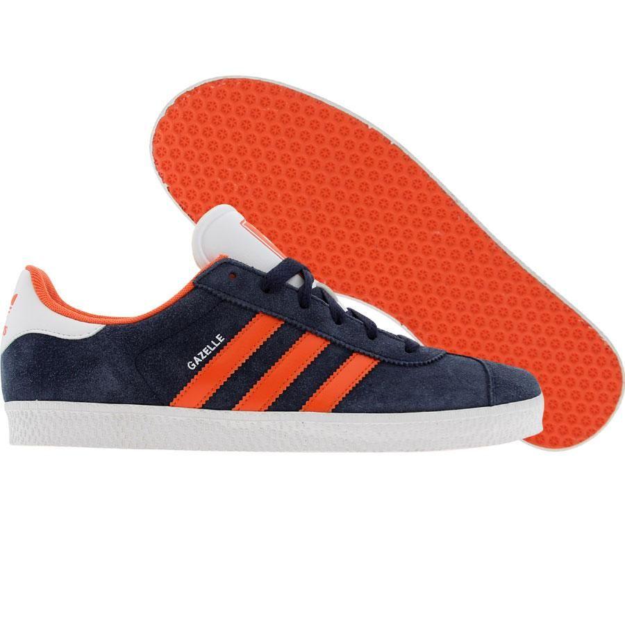 Adidas Gazelle Trainers Blue And Orange