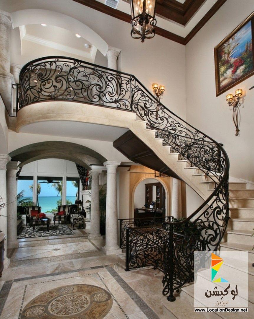 ديكورات سلالم حديد Luxury Staircase Staircase Design Wrought Iron Stairs