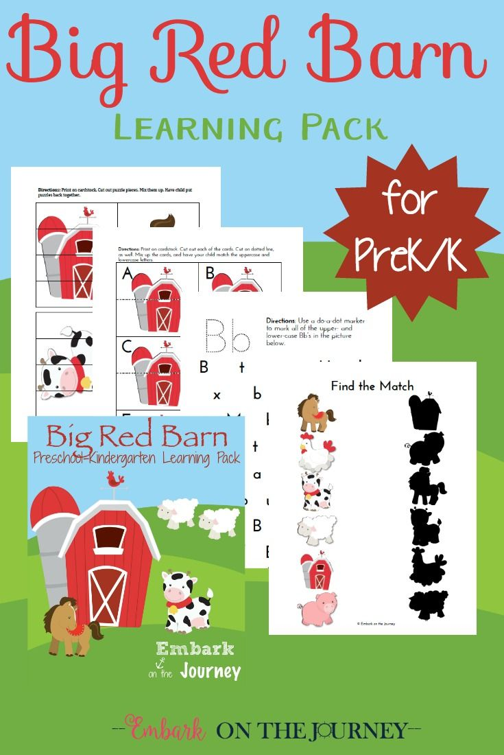 Printable Big Red Barn Book Activities For Preschool Big Red