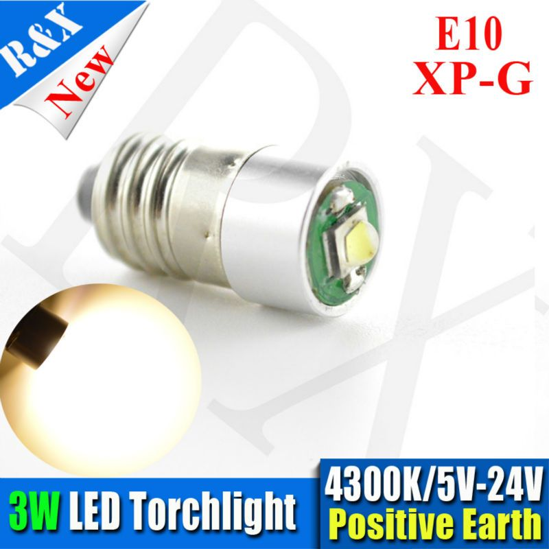 1x Screw Fit Xpg Led E10 Bulb For Mgb Midget Interior Dashboard Lights Xp G 5v 24v Warm White 4300k Car Lights Led Bulb Lights