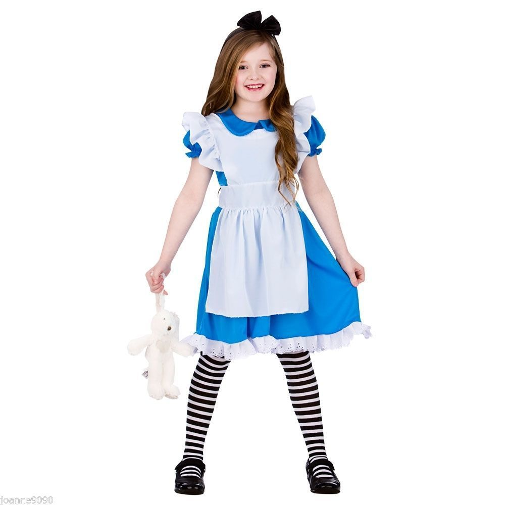 bd1a161acad 2017 summer girls dress Alice in Wonderland Costume Lolita Dress Maid Cosplay  Fantasia Carnival Halloween Costumes children clot  Affiliate