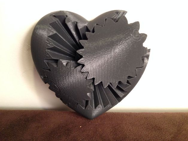 Downlaod 3D data:  Heart Gears by emmett - Thingiverse