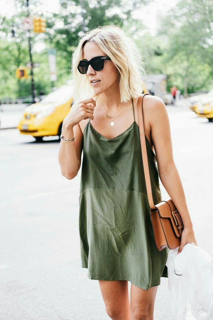 a440bbc67517c insta and pinterest @amymckeown5 Khaki Green Dress, Dress Red, Slip Dress  Outfit