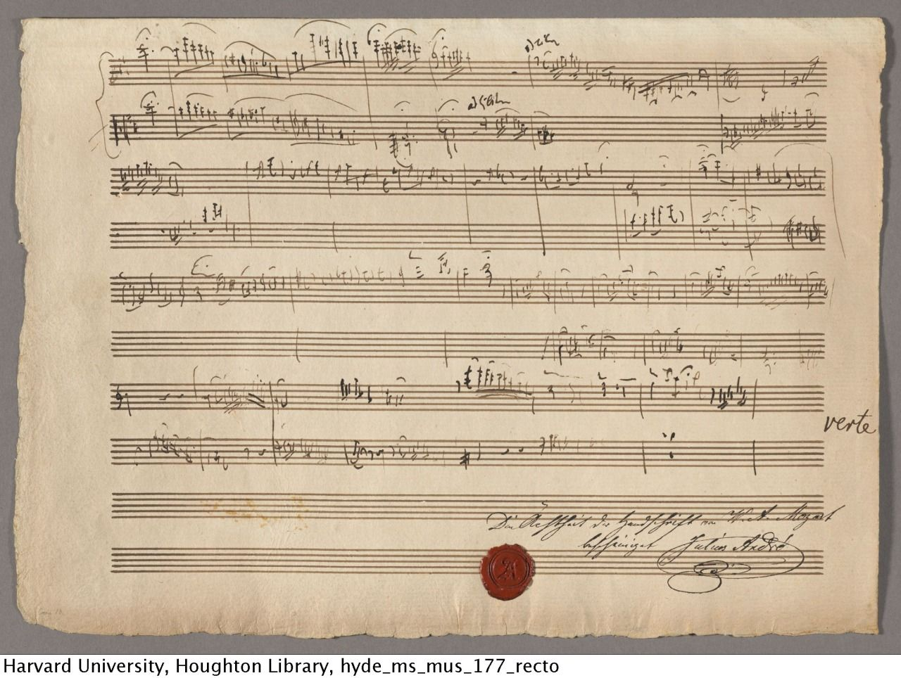 Mozart Wolfgang Amadeus 1756 1791 Drafts For The Sinfonia