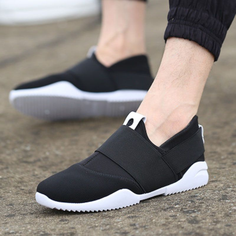 Women'S Comfortable Girls Casual Slip on Shoes - White Black 39