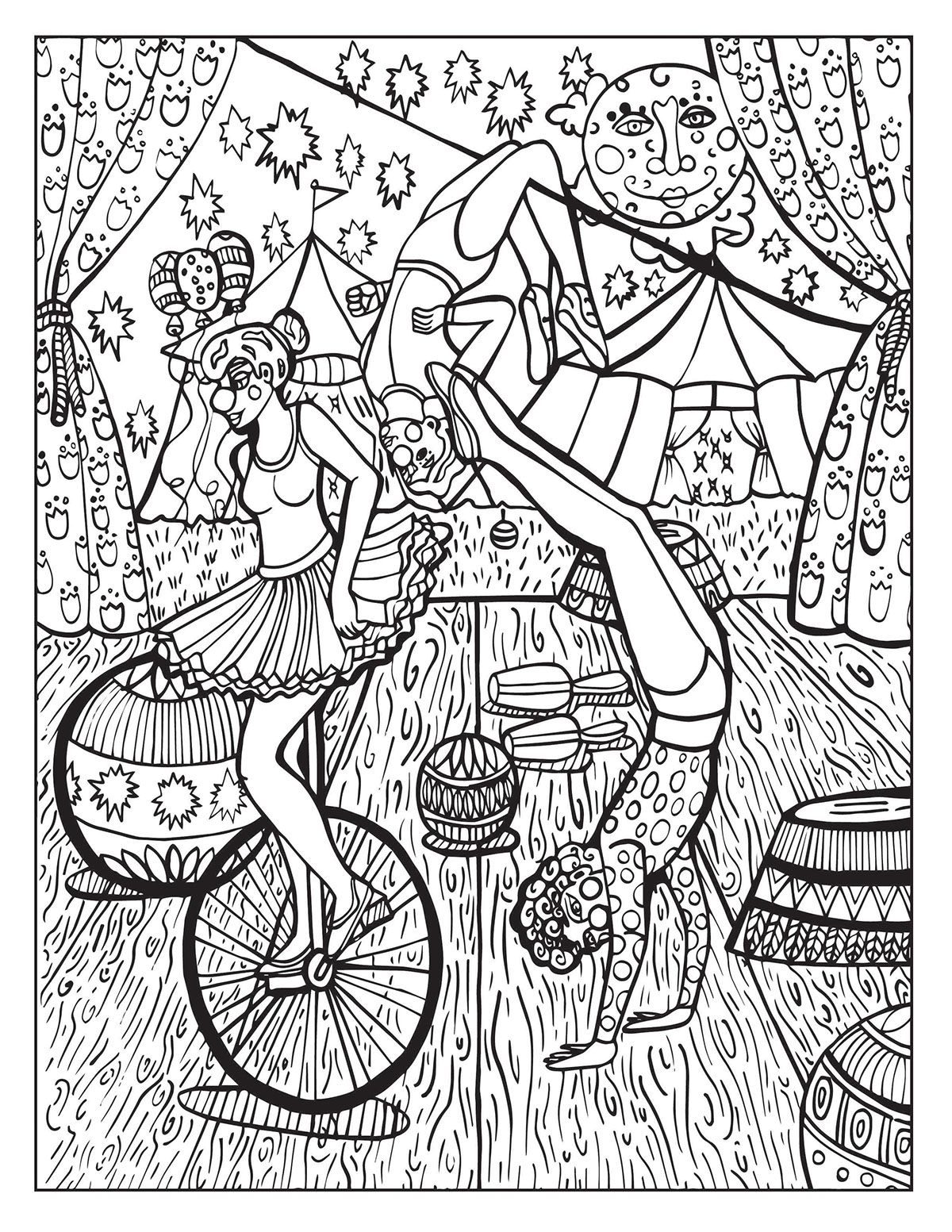 A Day at the Circus coloring page on Behance | ✐Zentangles ~ Adult ...