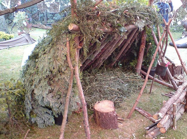 Lean To Survival Shelter The Bush Pfadfinder Draussen Jagd