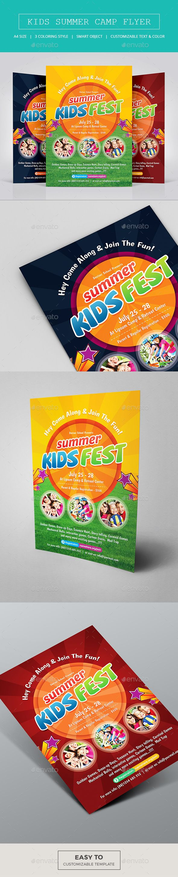 Kids Summer Camp Flyer  Template Flyer Template And Print Templates
