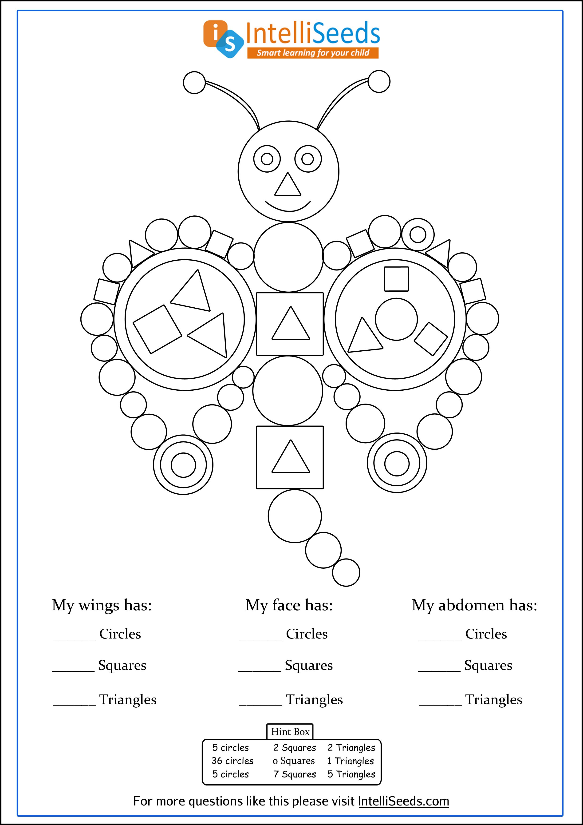 Worksheet To Develop Observation And Counting Skills