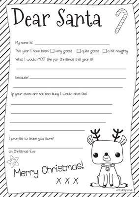 dear santa letter template free printable dear santa letter craft idea 21321