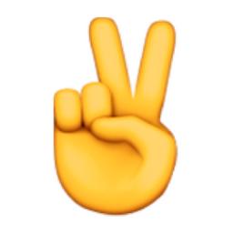 Victory Hand Emoji U 270c U E011 U 270c U Fe0f Hand Emoji Peace Sign Emoji Emoji Stickers