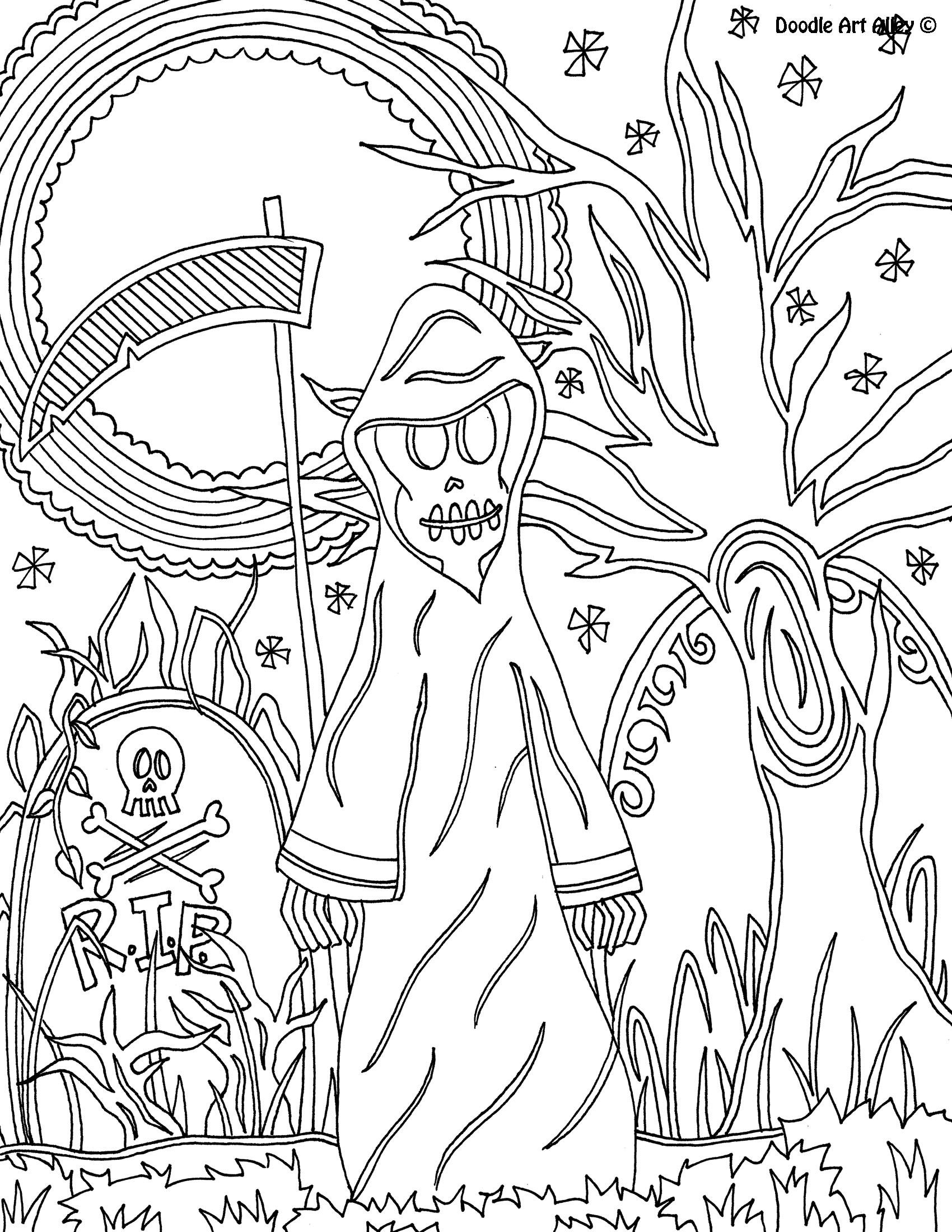 Grimreaper Jpg Halloween Coloring Sheets Monster Coloring Pages Cute Coloring Pages