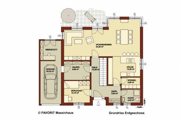 Der Grundriss Creativ Sun 183 (Erdgeschoss) Favorit