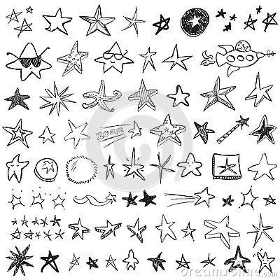 Stern Gekritzel Sterne Malen Sterne Zeichnen Gekritzel
