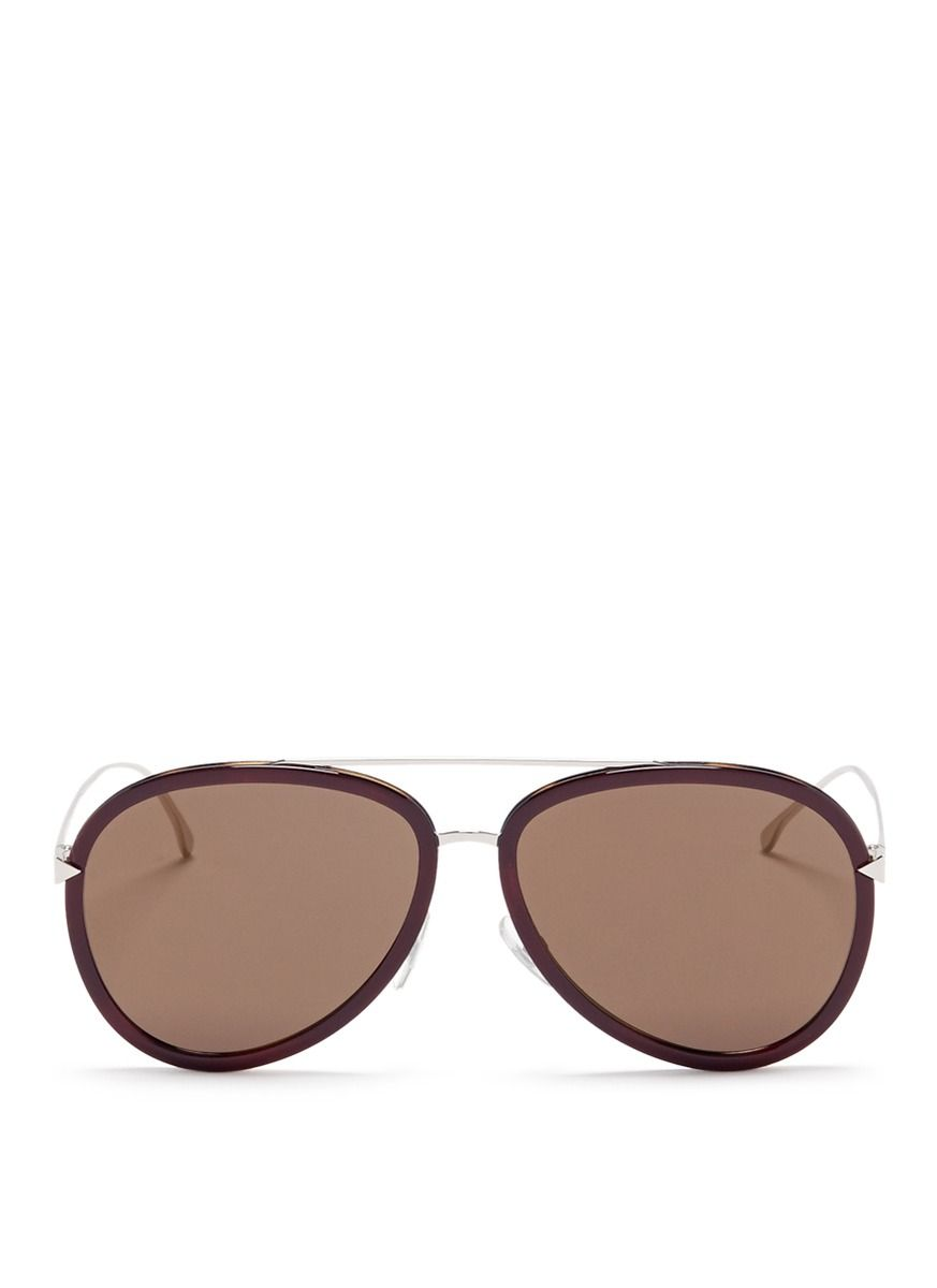 55d199630e31 FENDI  Funky Angle  acetate rim metal aviator sunglasses.  fendi  sunglasses