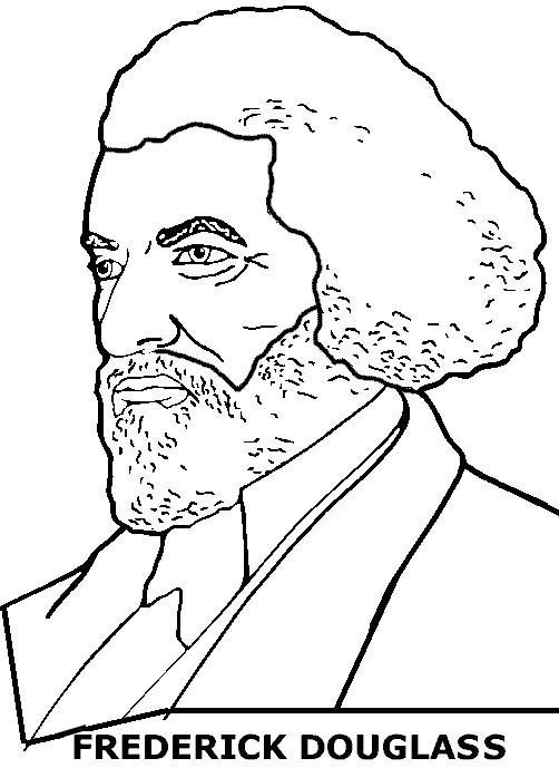 Frederick Douglass Coloring Page Black History Month Activities