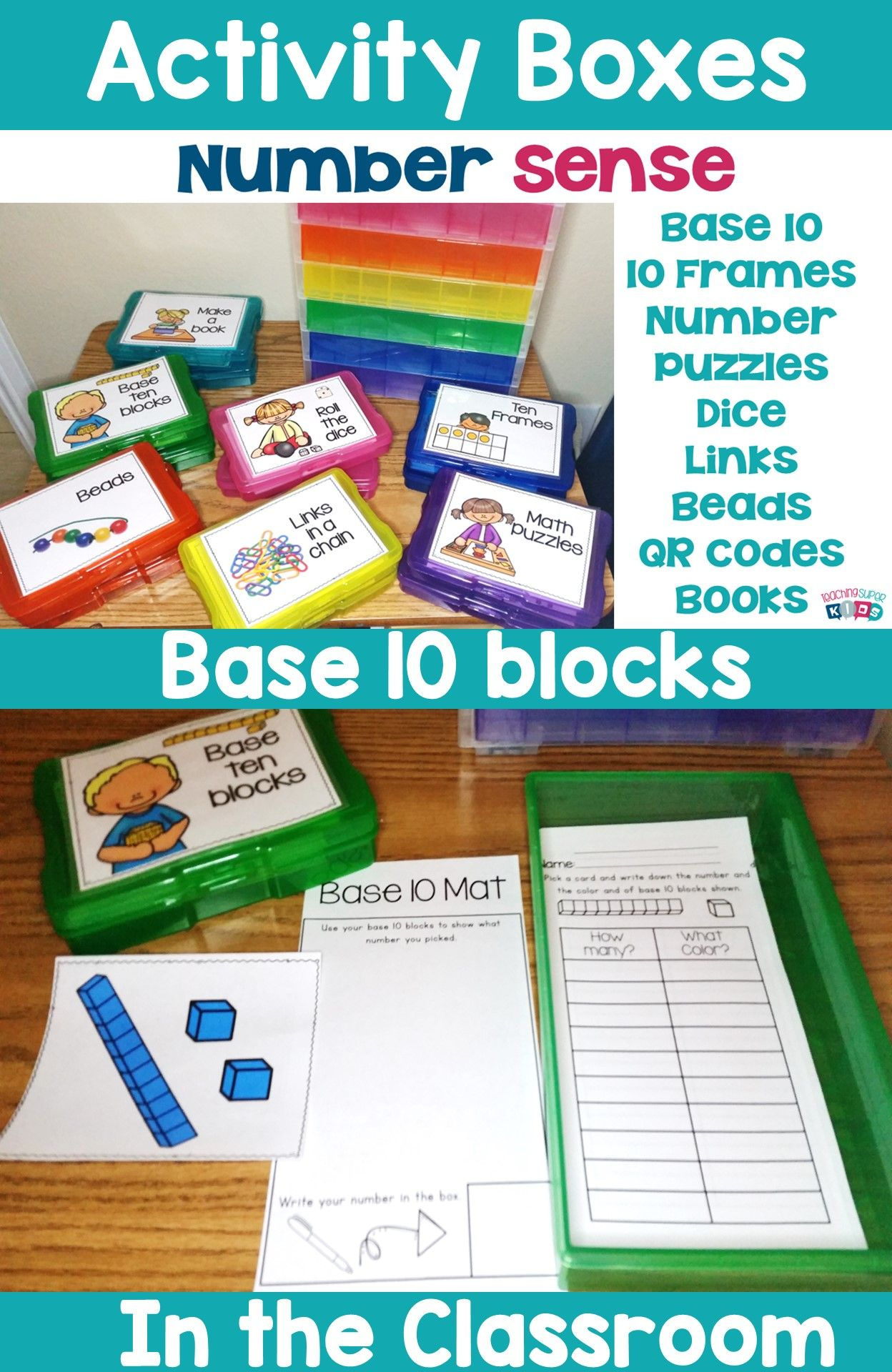 Number Sense Activity Boxes