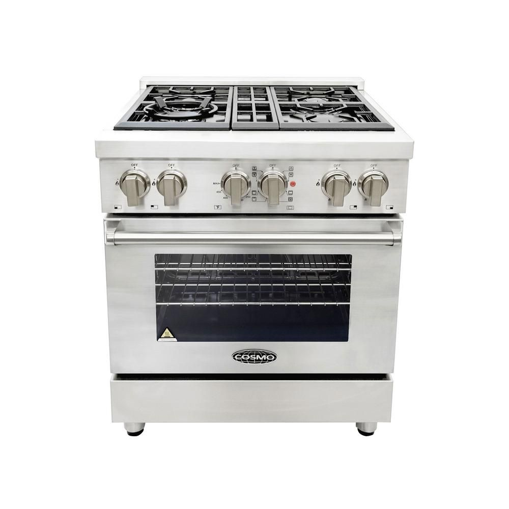 Single Oven Dual Fuel Range With 4