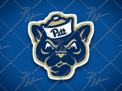 Vintage Style Pitt Panthers Mascot Logo Mascot Vintage Logo Vintage