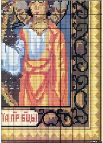 КАЗАНСКАЯ БОЖИЯ МАТЕРЬ - ИКОНЫ - СХЕМЫ ВЫШИВКИ КРЕСТИКОМ - Каталог файлов - ХОББИ