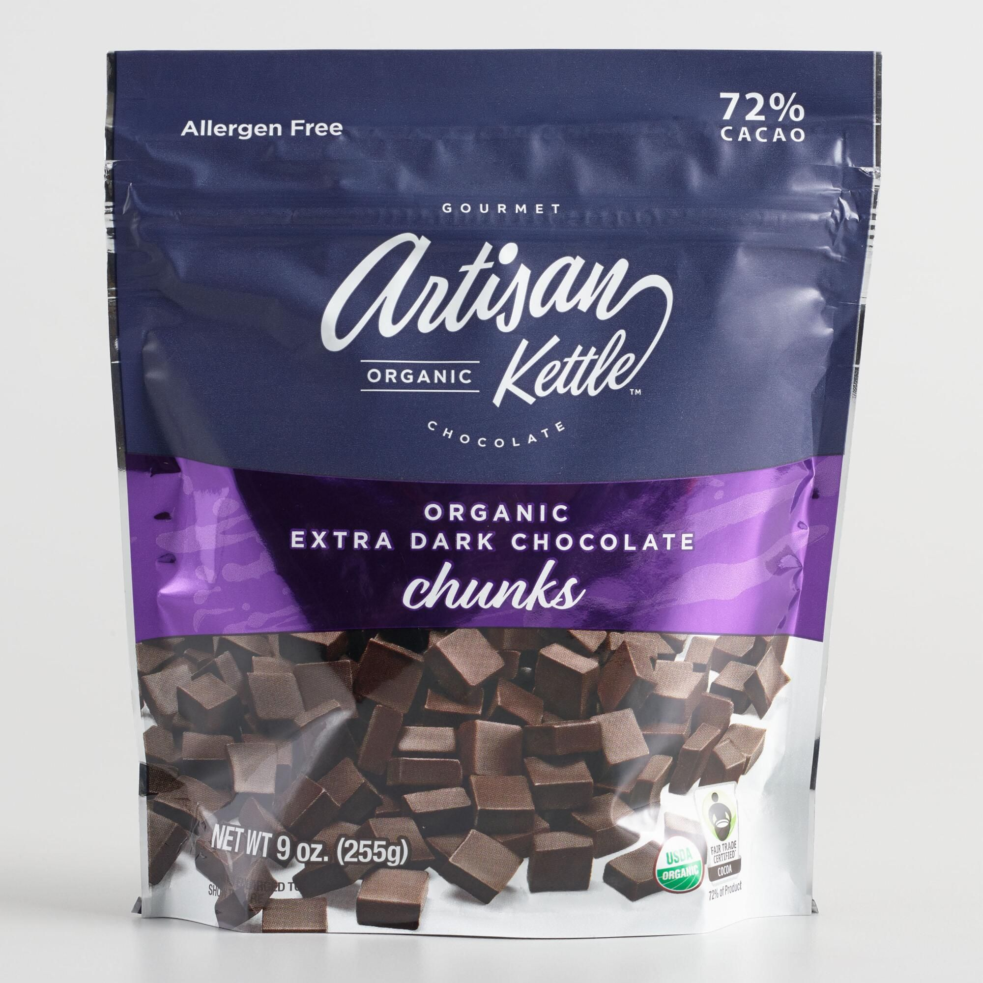 Artisan Kettle Organic Extra Dark Chocolate Chunks by