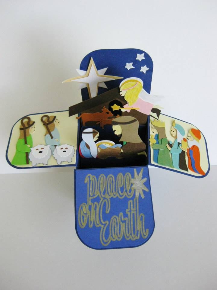 Pop up nativity card Pesebre en forma de caja