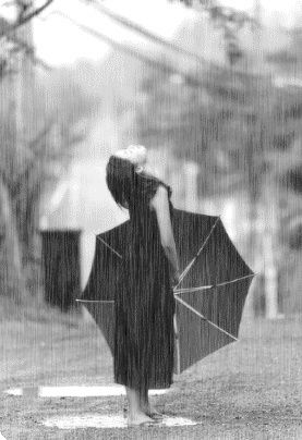 Waiting for The fresh feeling of rain drops on your face & hitting & mixing with the dirt